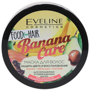 Маска для волос Eveline Food for Hair Banana Care защита цвета 500мл