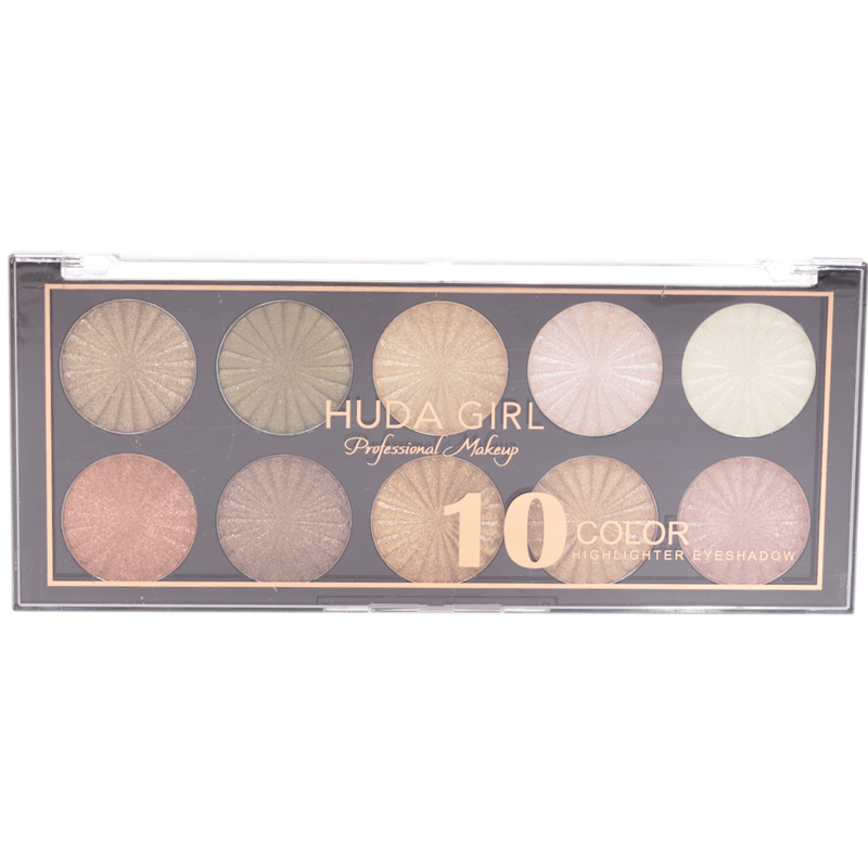 Тени для век Huda Girl №8010 10 Color 10-ти цветные